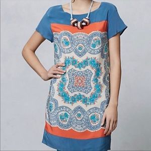 Anthro Meadow Rue Calcada Tunic/Dress 100% Silk